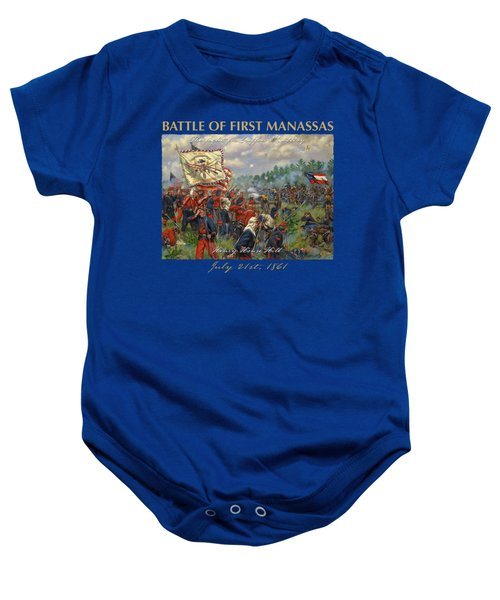 Taking Griffin's Battery - 11th New York Fire Zouaves And 14th Brooklyn - Battle Of First Manassas Baby Onesie