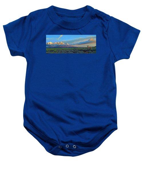 Teton Morning Baby Onesie by Paul Krapf