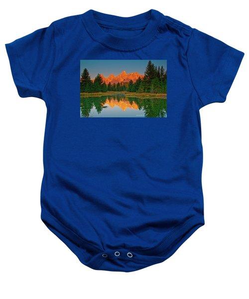 Teton Sunrise Baby Onesie