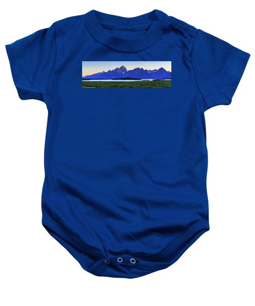 Teton Sunset Baby Onesie by David Chandler