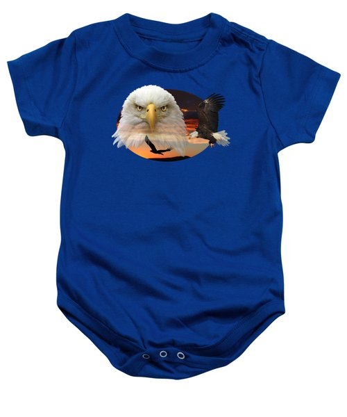 The Bald Eagle 2 Baby Onesie by Shane Bechler