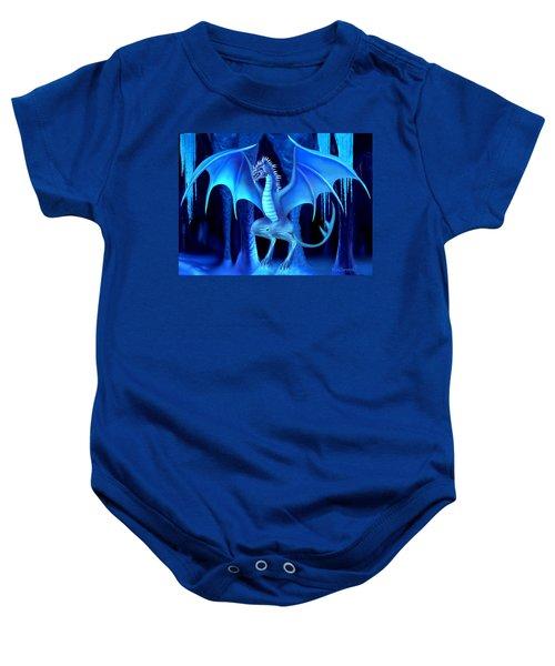 The Blue Ice Dragon Baby Onesie by Glenn Holbrook