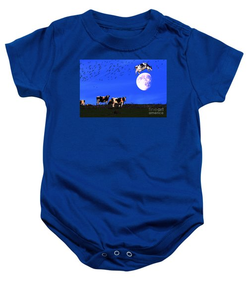 The Cow Jumped Over The Moon Baby Onesie