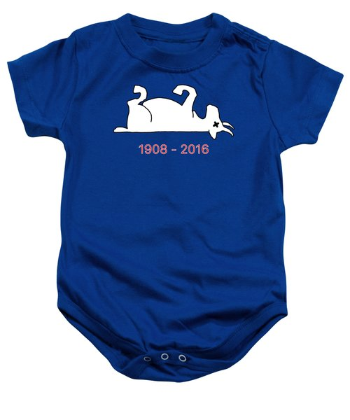 The Goat Is Dead Baby Onesie by Larry Scarborough