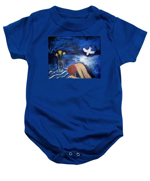 Baby Onesie featuring the painting The Healing by Winsome Gunning