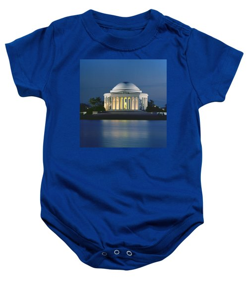The Jefferson Memorial Baby Onesie by Peter Newark American Pictures