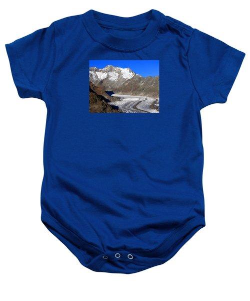 The Large Aletsch Glacier In Switzerland Baby Onesie