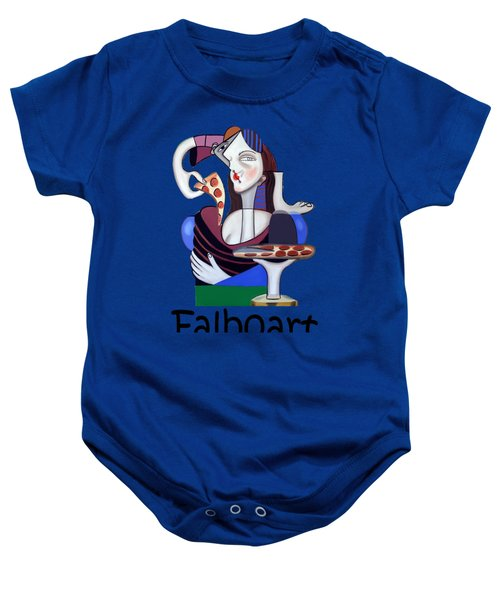 The Mona Pizza T-shirt Baby Onesie