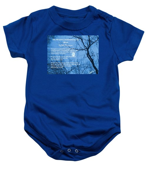 The Pleasant Countenance Of The Moon Baby Onesie