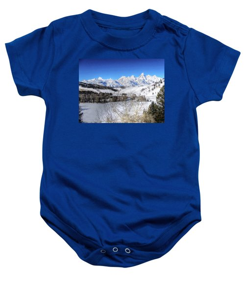 The Tetons From Gros Ventre Valley Baby Onesie