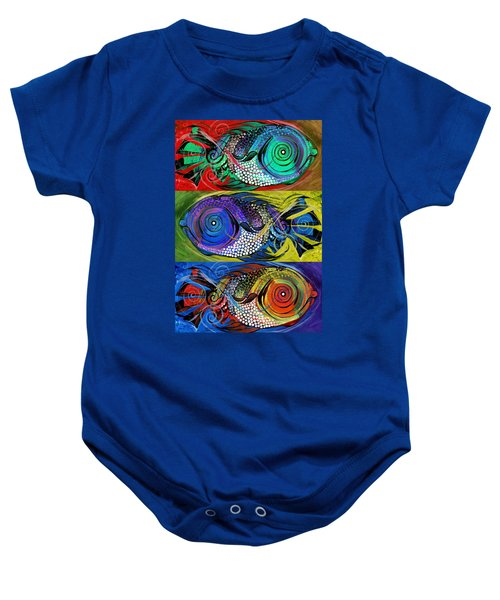The Three Fishes Baby Onesie