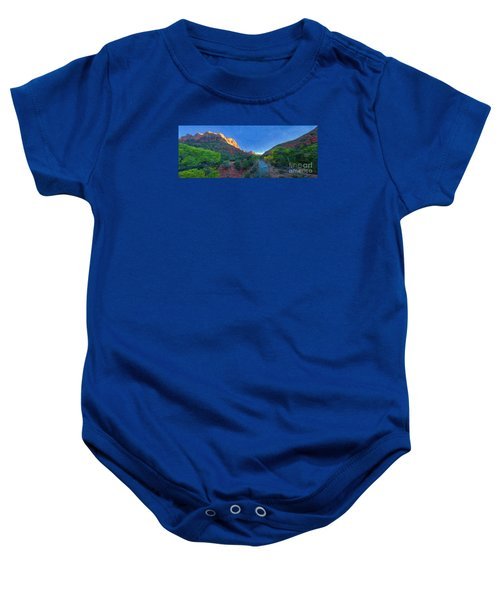 The Watchman Zion National Park Baby Onesie