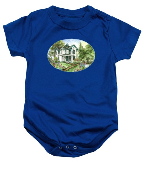 The White Farmhouse Baby Onesie