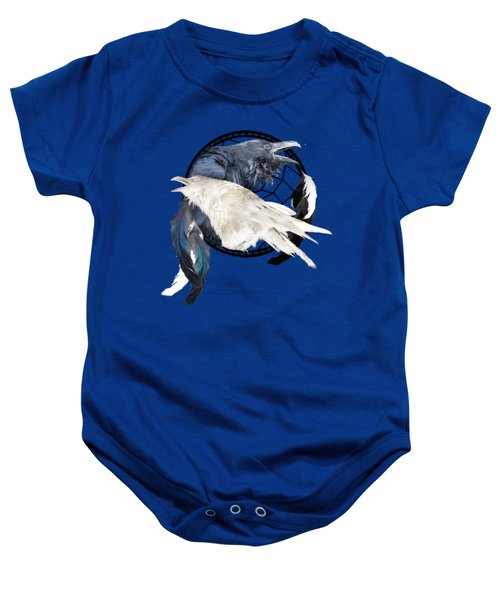 The White Raven Baby Onesie