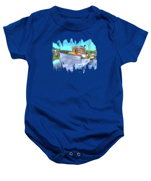 Thee Old Dragger Boat Baby Onesie