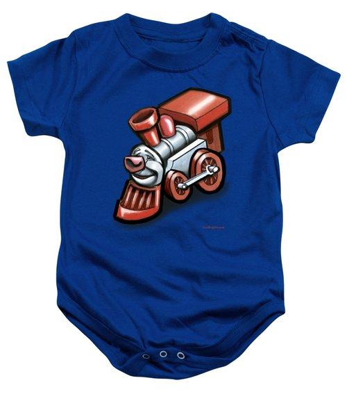 Toy Train Baby Onesie