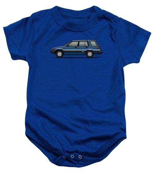 Toyota Tercel Sr5 4wd Wagon Al25 Blue Baby Onesie
