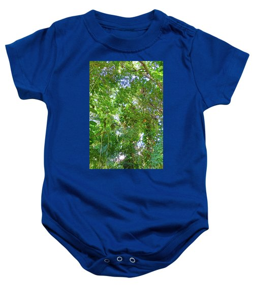 Baby Onesie featuring the photograph Tree M2 by Francesca Mackenney
