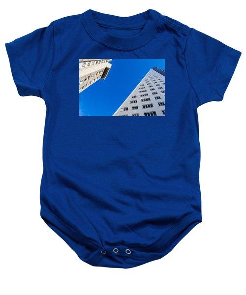 Triangle Modern Building Baby Onesie
