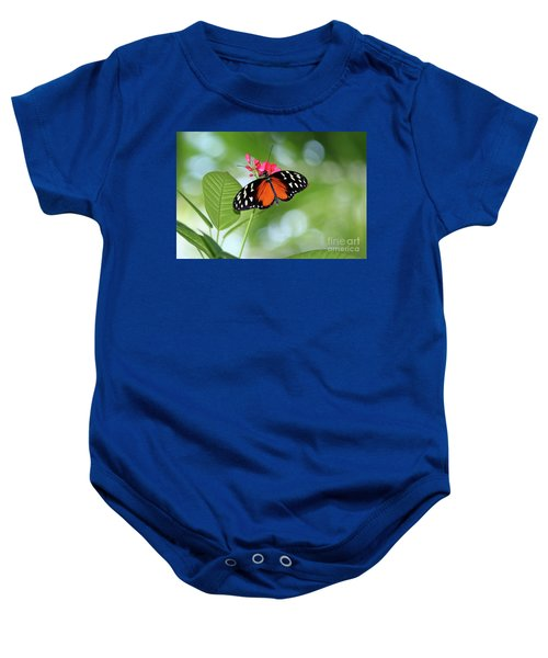 Tropical Hecale Butterfly Baby Onesie