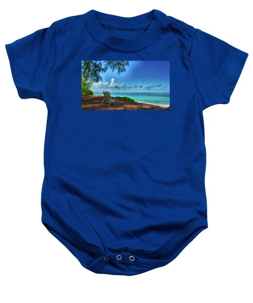 Tropical View Baby Onesie