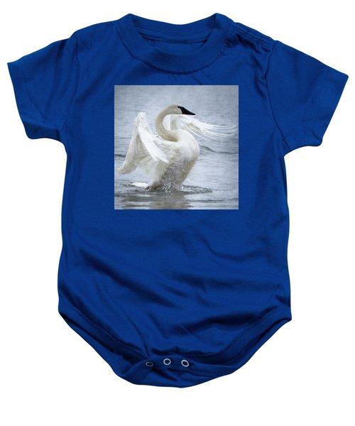 Trumpeter Swan - Misty Display 2 Baby Onesie