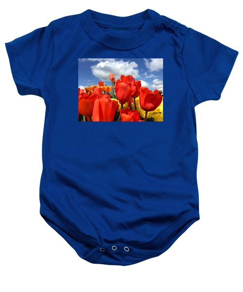 Tulips In The Sky Baby Onesie