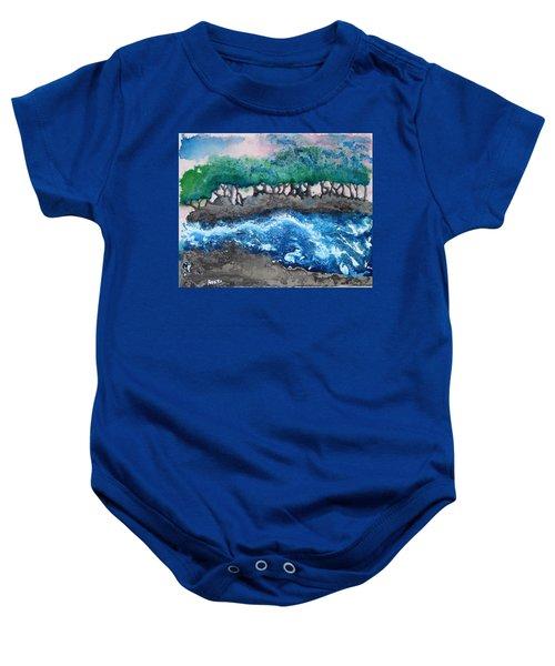 Turbulent Waters Baby Onesie