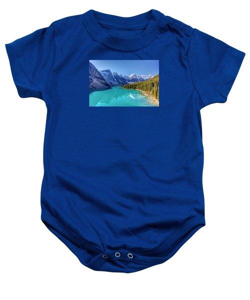 Turquoise Splendor Moraine Lake Baby Onesie