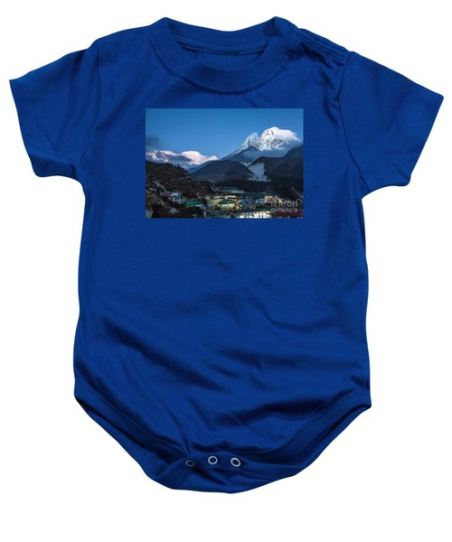 Twilight Over Pangboche In Nepal Baby Onesie
