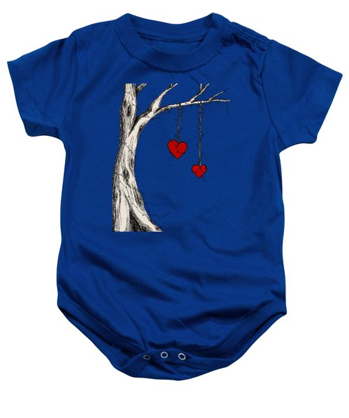 Two Hearts Graphic Baby Onesie