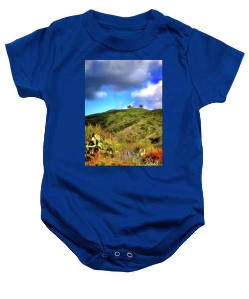 Two Trees In Spring Baby Onesie