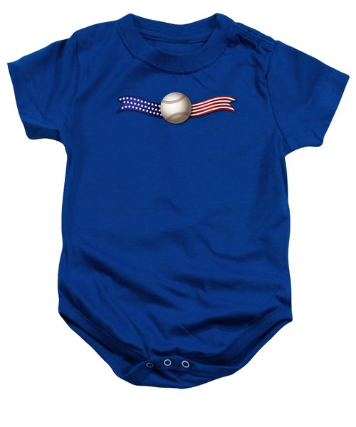 Usa Baseball Baby Onesie