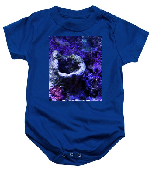 Baby Onesie featuring the digital art Uw Coral Stone by Francesca Mackenney