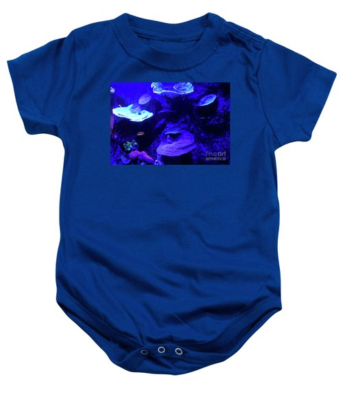 Baby Onesie featuring the photograph Uw Neon Coral by Francesca Mackenney