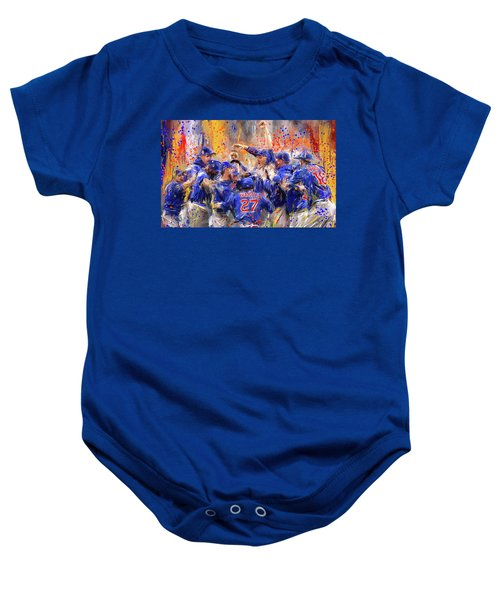 Victory At Last - Cubs 2016 World Series Champions Baby Onesie