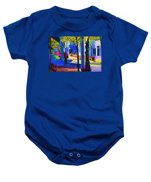 Village Shopping Baby Onesie