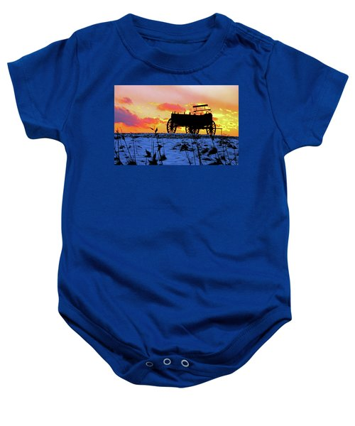 Wagon Hill At Sunset Baby Onesie