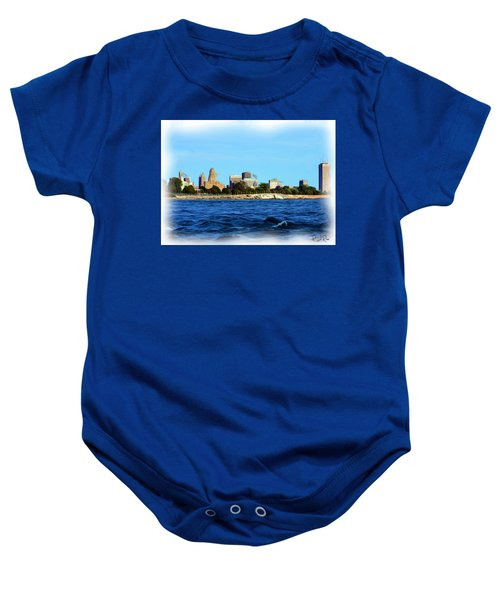 Waterfront Decay Four Baby Onesie