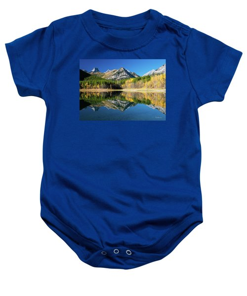 Wedge Pond Color Baby Onesie