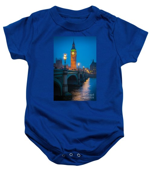Westminster Bridge At Night Baby Onesie