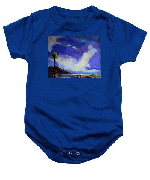 Wetlands Sky  Baby Onesie