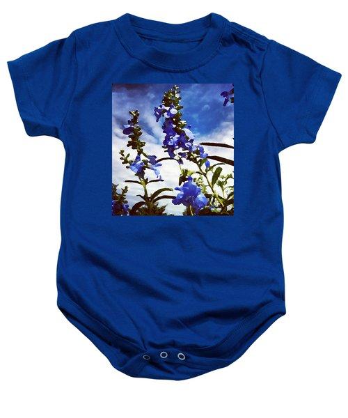 Wild Blue Sage  Baby Onesie