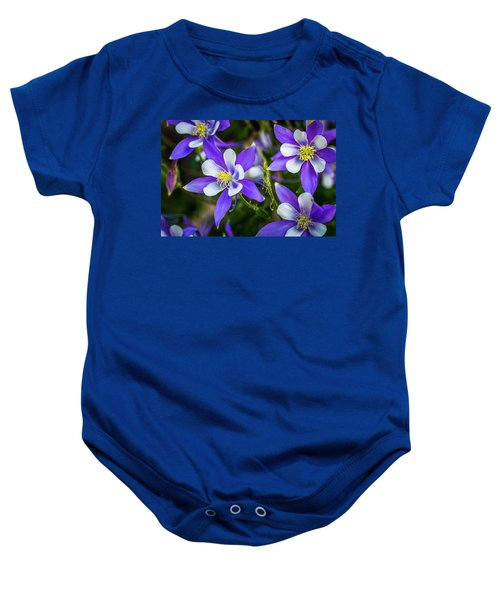 Wildflowers Blue Columbines Baby Onesie
