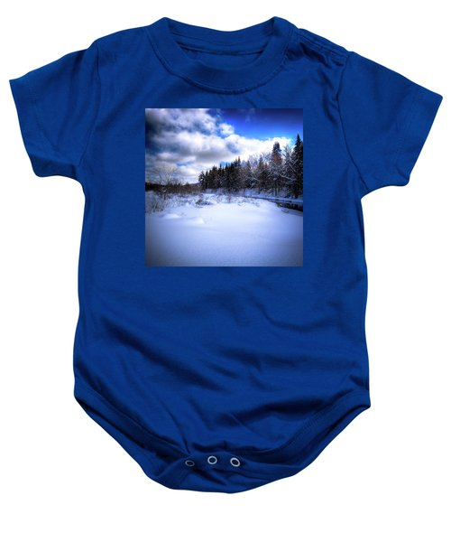 Baby Onesie featuring the photograph Winter Highlights by David Patterson