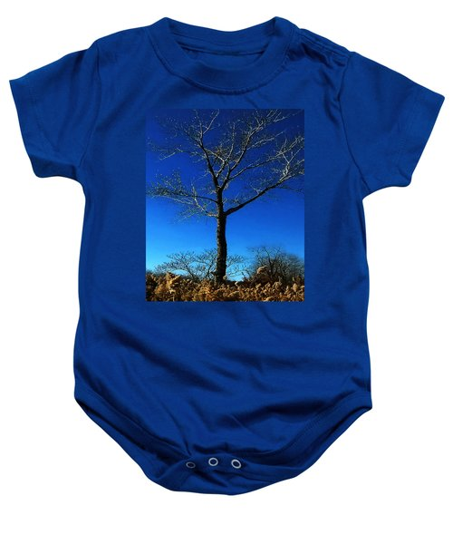 Winter Tree Baby Onesie