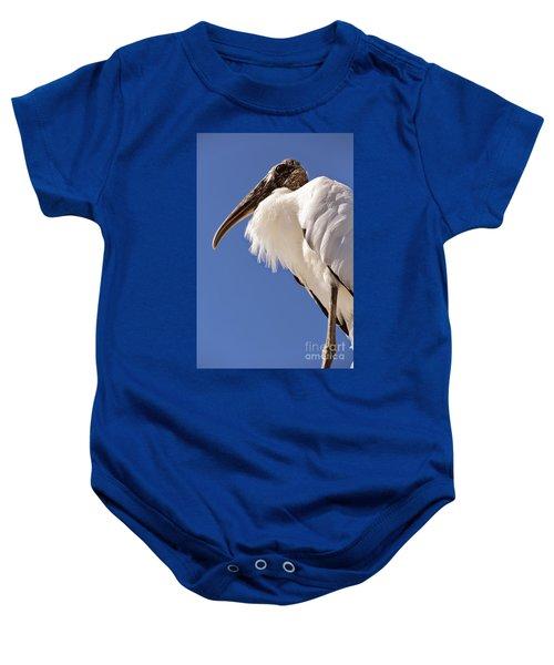 Wonderful Wood Stork Baby Onesie by Carol Groenen