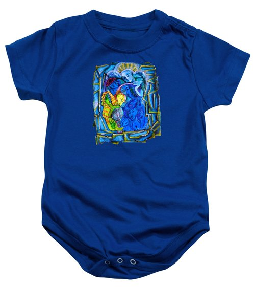 Yeti And The Mermaid Series I Don't You See? Baby Onesie by Joanna Whitney