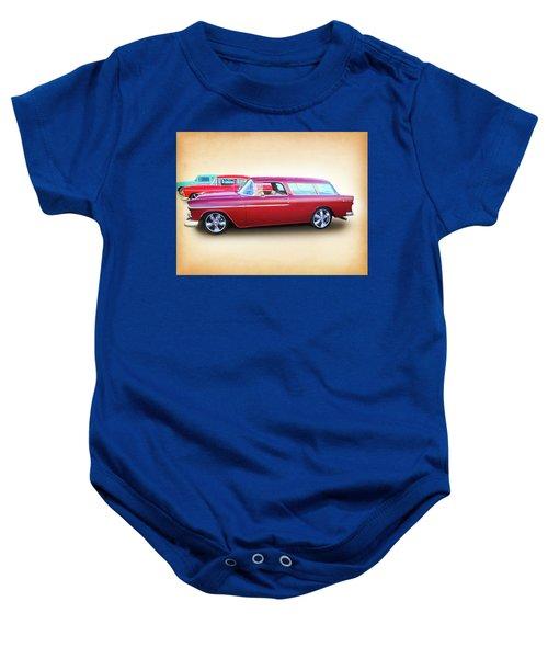3 - 1955 Chevy's Baby Onesie
