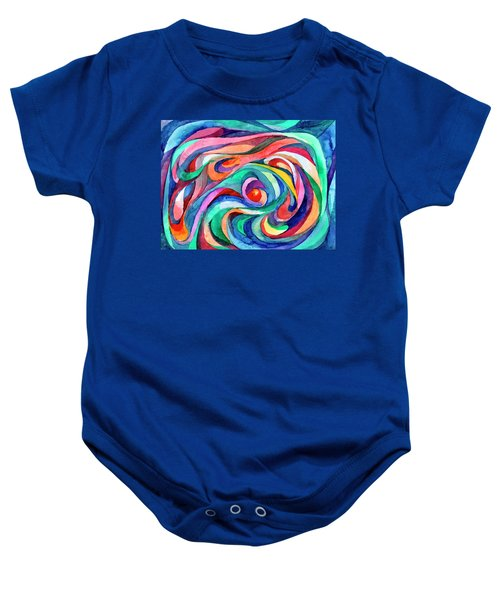 Abstract Underwater World Baby Onesie